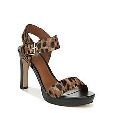 Franco Sarto Nisha Leopard Platform Heel with Ankle Strap