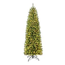 Franklin Fir Pencil 6-1/2' Artificial Christmas Tree with Clear Lights