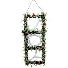 "Fraser Hill Farm 33"" Christmas Christmas JOY Door Hanging with Berries"