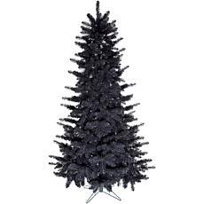 Fraser Hill Farm 5' Festive Tinsel Christmas Tree - Black
