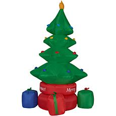 Fraser Hill Farm 6.5' Rotating Christmas Tree & Gifts Lit Inflatable