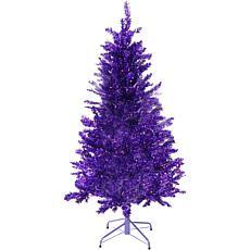 Fraser Hill Farm 7' Festive Tinsel Christmas Tree - Purple