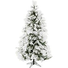 Fraser Hill Farms 9' Flocked Snowy Pine Tree
