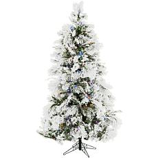 Fraser Hill Farms 9' Flocked Snowy Pine Tree - Multicolor