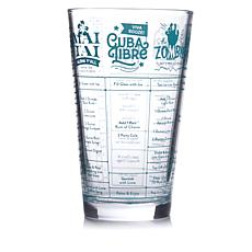Fred and Friends Good Measure Recipe Glass - Rum