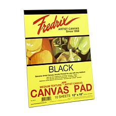 "FREDRIX Black Canvas 10-Sheet Pad 12"" x 16"""