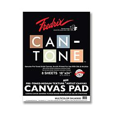 "FREDRIX Can-Tone Multi-Color Canvas 8-Sheet Pad 18"" x 24"""