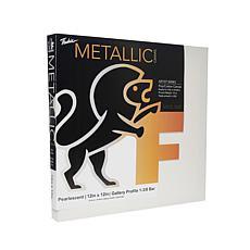 "Fredrix Pearlescent Metallic Stretched Canvas  - 12"" x 12"""