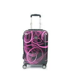 "FUL Atomic 20"" Expandable Spinner Rolling ABS Hard-case Suitcase"