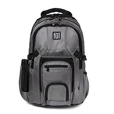 "FUL Tennman Laptop Backpack with 17"" Laptop Sleeve - Black/Grey"