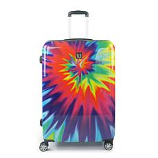 "FUL Tie Dye 28"" Expandable Spinner Rolling ABS Hard-case Suitcase"