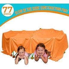 Funphix 77-Pc Fort Kit with Glow in the Dark Sticks & Orange Sheet