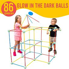 Funphix 86-Pc Multi-Color Fort Set with Glowing Connectors & Bag