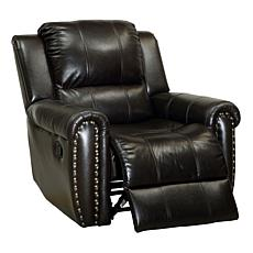 Furniture of America Dax Leatherette Glider Recliner - Brown