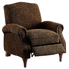 Furniture of America Paulina Linen-Like Push-Back Recliner - Pattern