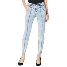 G by Giuliana Black Label Acid Wash Ankle Jean