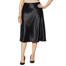 G by Giuliana Black Label Bias-Cut Satin Skirt