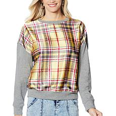 G by Giuliana Black Label Plaid Sweatshirt
