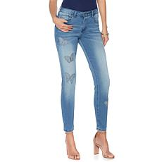 G by Giuliana Butterfly Patch Skinny Jean