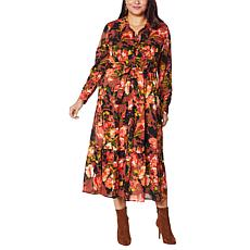 G by Giuliana Button-Front Tiered Shirt Dress
