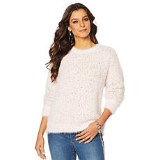 G by Giuliana Confetti Knit Multicolor Pullover Sweater