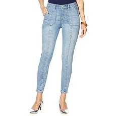 G by Giuliana Downtown Denim Ankle-Zip Skinny Jean