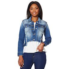 G by Giuliana Frayed Denim Jacket
