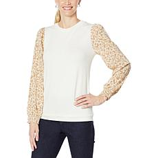 G by Giuliana G-Soft Mixed Media Top
