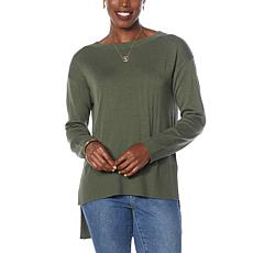 G by Giuliana Hi-Low Hem Lightweight Sweater
