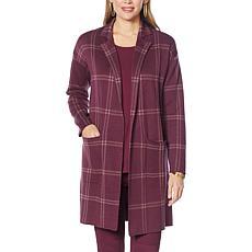 G by Giuliana Jacquard Sweater Knit Duster Cardigan