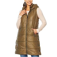 G by Giuliana Longline Hooded Puffer Vest