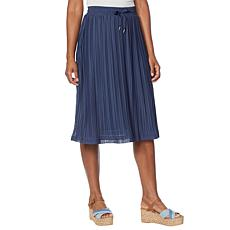 G by Giuliana LounGy 5-Mile Pleated Mesh Skirt