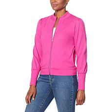G by Giuliana LounGy French Terry Bomber Jacket