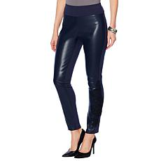 G by Giuliana Ponte Knit and Faux Leather Legging