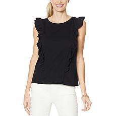 G by Giuliana Ruffle Front Tank Top