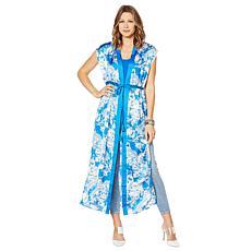 G by Giuliana Sleeveless Tie-Front Kimono