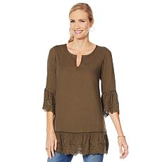 G by Giuliana Tunic with Eyelet Trim