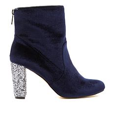 G by Giuliana Velvet Bootie with Glitter Heel