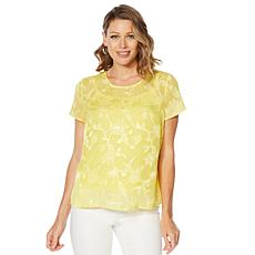 f9bb0f01b304d9 G by Giuliana Woven Top with Cami ...