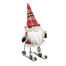 Gallerie II Lumberjack Gnome on Skis Figurine