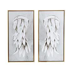 """Gallery 57 Angel Wings Diptych 29"""" x 29"""" Floating Canvas"""