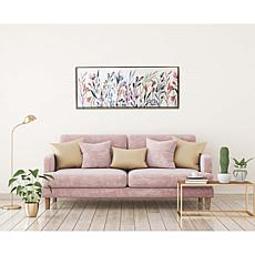 """Gallery 57 Colorful Wildflowers 19"""" x 45"""" Floating Frame Canvas"""