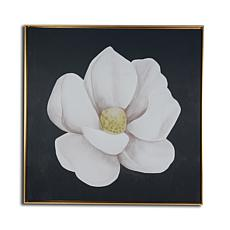 """Gallery 57 White Magnolia 29"""" x 29"""" Floating Frame Canvas"""