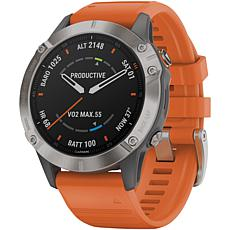 Garmin Fenix® 6 Plus  Sapphire Edition Titanium Multisport GPS Watch