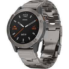 Garmin Fenix 6 Sapphire Multisport GPS Watch in Titanium