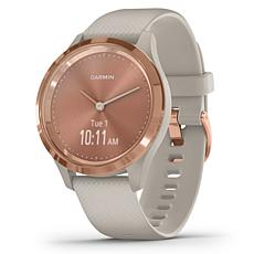 Garmin Vivomove 3S Hybrid Smartwatch in Light Sand and Rose Gold