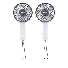 Geek Aire Rechargeable Folding Handheld Fan 2-pack