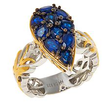 Gems by Michael Cobalt Blue Spinel Cluster Pear-Shape Ring