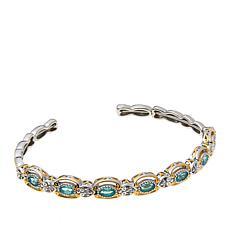 Gems by Michael Dauphin Apatite & White Topaz Flexible Cuff Bracelet