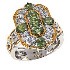 Gems by Michael Green Demantoid Garnet and White Zircon Ring